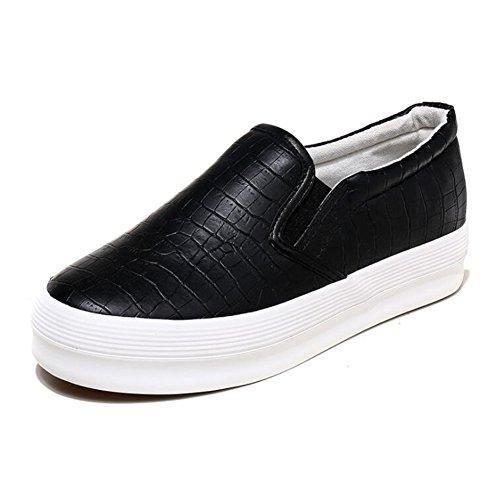 Sneakers Flat Print Snake Loafers Fashion Platform COVOYYAR Women's Black Slip Casual On YESIwnq67