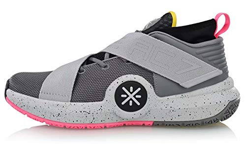8f50f16208b2 LI-NING All City 7 Wade Men Cushioning Basketball Shoes Lining Anti-Slip  Professional Shock Absorption Sneakers Sports Shoes Grey ABAN047 US 9