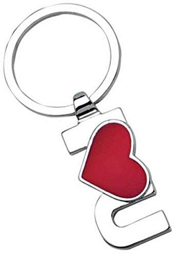 Ten Llavero te Amo Cromo corazón Rojo cod.EL7370 cm 7,5x3 ...