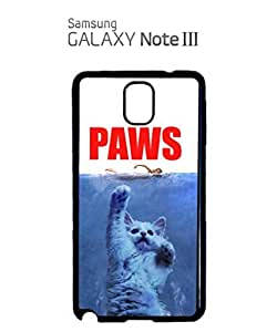 Paws Cat Kitten Meow Mobile Cell Phone Case Samsung Note 3 White