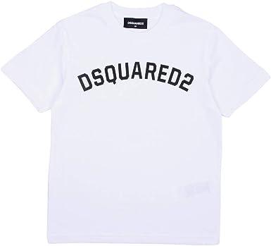 DSQUARED2 Camiseta de algodón de media manga blanca con ...