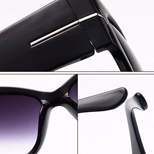 CHANNIKO-ES Moda Letra T Marco Grande Gafas de Sol de Mujer ...
