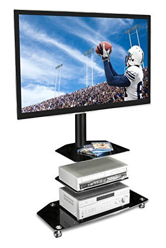 Amazon Com Mount It Mobile Tv Stand With Rolling Casters Three