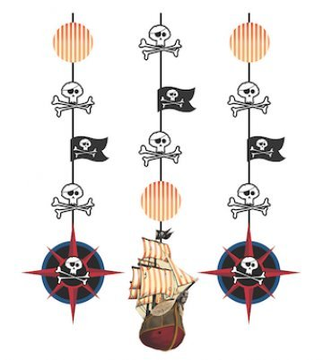 Hoffmaster Group 995969 Pirates Map Hanging Cutouts (Pirate Decoration)