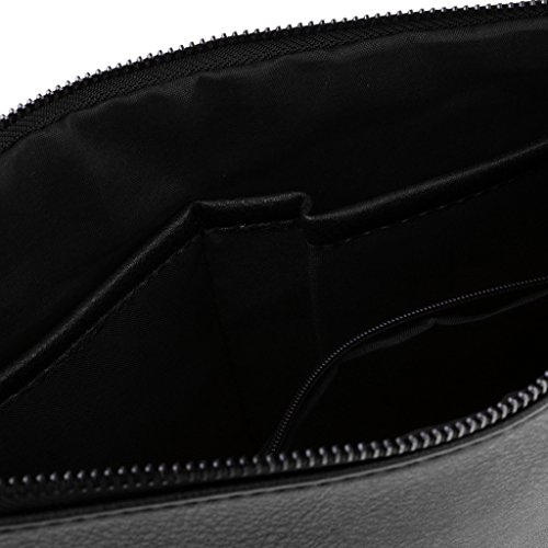 Gift Prettyia Handbag Purse P Cosmetic Messenger Described Bag Black Zipper Black Clutch Party as Phone Women Girls Xnf7Y7qg