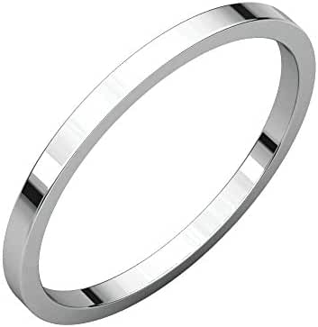 Platinum 1.5mm Flat Band, Ring Size 7