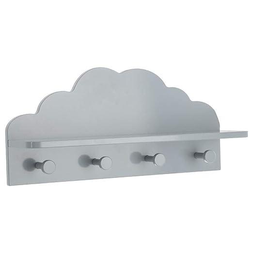 Perchero nube 4 ganchos – 48 x 22 x 12 cm – gris