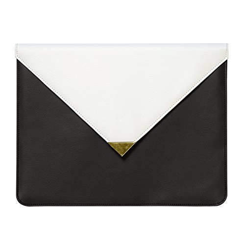 - C.R. Gibson Black and White Leatherette Document Folio