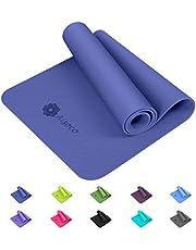 Aisoco Estera de TPE para Yoga - Esterilla Yoga Antideslizante - Eco Amistoso, con Bolso Y Correa de Transporte 183 * 60