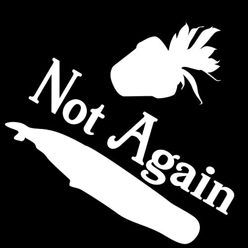 Creative Concepts Ideas Not Again Plant Whale Hitchhiker's Guide Galaxy Funny CCI Decal Vinyl Sticker Cars Trucks Vans Walls Laptop White 5.5 x 5.25 in CCI2314 -
