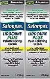 Salonpas LIDOCAINE PLUS 3 oz Pain Relieving Cream! Maximum Strength 4% Lidocaine for Numbing Pain Relief! (2 PACK)