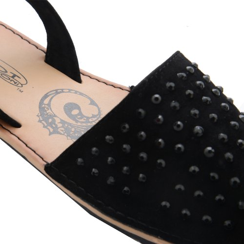 Footwear Sensation - Plano mujer negro - Black Diamante