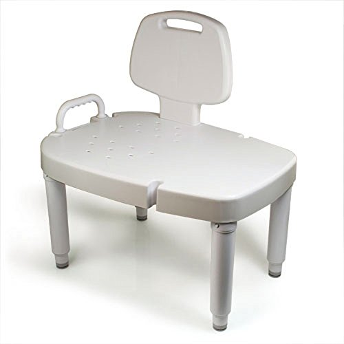 Maddak Transfer Bench with Adjustable Removable Legs, White (727142601)