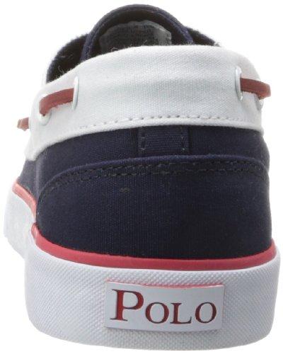 Polo Ralph Lauren Manar Lander Ii Mode Sneaker Newport Marin / Kritvit