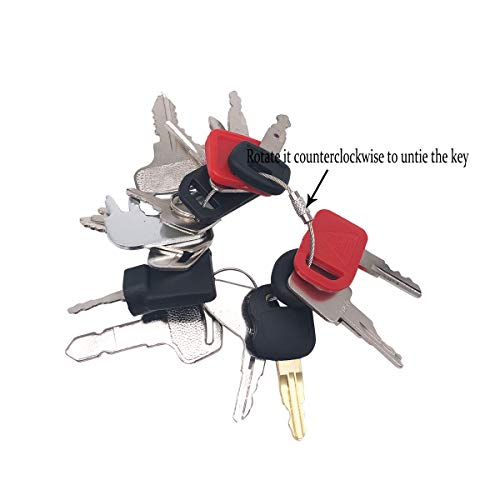 Set of 16 Construction Ignition Keys Universal Heavy Equipment Key fits JCB  Kubota CAT Hyster Forklift John Deere etc