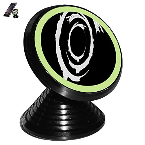 Ink Circle Design Creativity Magnetic Vehicle Mounted Mobile Phone Bracket Holder 360 with Noctilucent Function