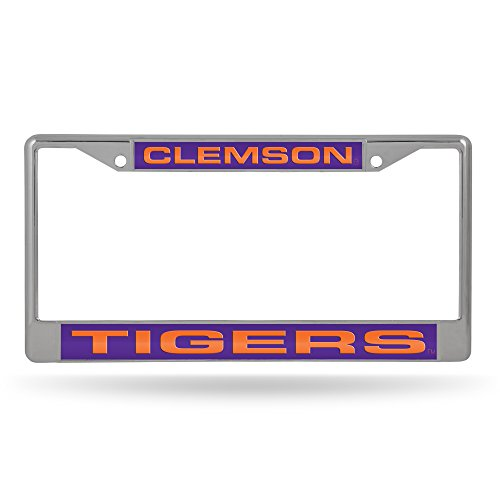 Rico Industries NFL Chicago Bears Laser Cut Inlaid Standard License Plate Frame, 6