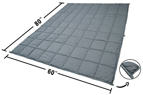 Bertte Weighted Blanket (60''x 80'' Queen Size, 25 lbs, Dark Grey) for Adults, Women, Men, Children Deep Sleep | Gravity Heavy Blanket Great for Stress, Autism, ADHD, Insomnia and Anxiety Relief by Bertte (Image #5)'