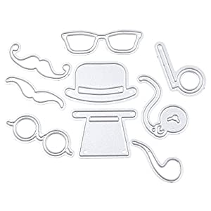 RoseSummer Beard Sunglasses Kits Cutting Dies Stencils Planer Embossing DIY Scrapbook Template Craft Card Paper