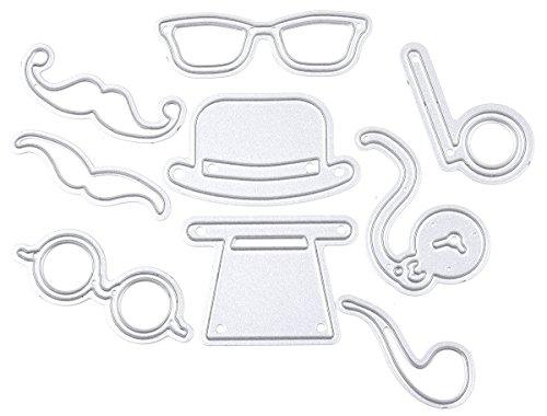 RoseSummer Beard Sunglasses Kits Cutting Dies Stencils Planer Embossing DIY Scrapbook Template Craft Card - Sunglasses Template