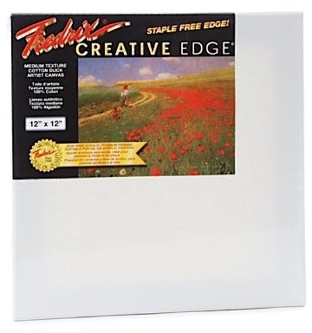 Fredrix Creative Edge Pre-Stretched Canvas -- Gallery Style (12 In. x 12 In.) 1 pcs sku# 1832203MA