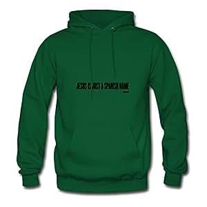 Cotton Fashionable Jesus Spanish Name By Wam Women Designed Large Sweatshirts Green