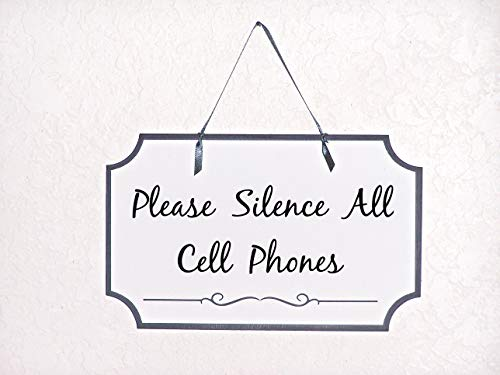 MaxwellYule Business Plaque Therapist Reception Room Wood Sign Doctors Office Massage Therapy Sign Please Silence All Cell Phones Spa Salon Notice
