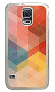 Retro Diamond Zig Zag Pattern Custom Samsung Galaxy S5 Case and Cover - Polycarbonate - Transparent