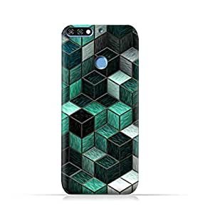 AMC Design Huawei Honor 7C TPU Silicone Protective case with Cubes Design