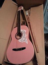 rogue starter acoustic guitar pink musical instruments. Black Bedroom Furniture Sets. Home Design Ideas