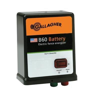 (Gallagher G351504 B60 12-volt Fencer, 40 Acre/5-Mile )