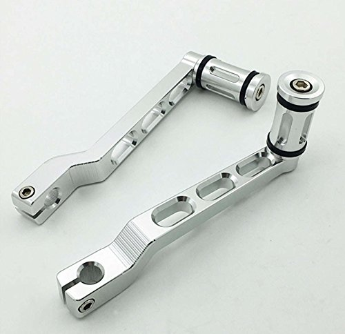 Chrome CNC Edge Cut Heel Toe Gear Shifter Shift Lever W/ Shifter Peg Lever Arms& Shifter Peg For Harley Touring Softail Road Glide Trike FLHT