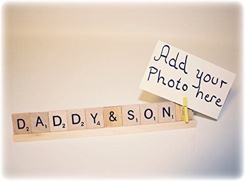 Daddy and Son, Father's Day Photo Frame, Daddy Photo Holder, Daddy Photo Frame, Daddy Frame, Daddy Photo