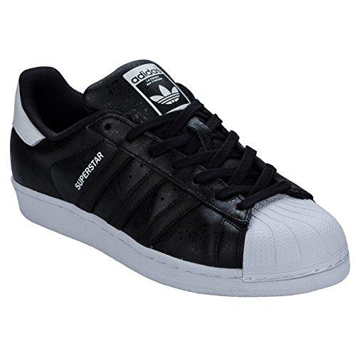 Sneaker Adidas Uomo Superstar, Blu, 38 Eu Nero (nero-bianco)