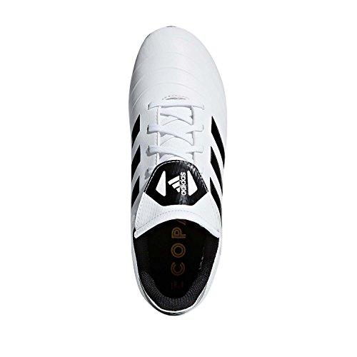Image of adidas Boys' COPA 18.4 FxG J, White/core Black/Tactile Gold, 4 M US Big Kid