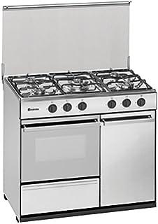 Meireles G 2950 DV - Cocina portabombonas de 90x60cm con 5 quemadores a gas y horno a gas preparada para…