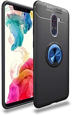 MIFanX Funda Xiaomi Pocophone F1, Suave TPU Cover con 360°Anillo ...