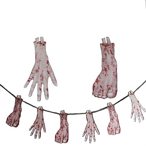 zqasales Halloween Horror Spukhaus Blut Messer String Faule