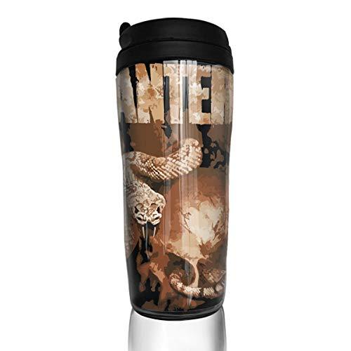 - LixuA Stylish Pantera Rattler Skull Insulated Traveler Coffee Mug Tumbler Coffee Cup 12 Oz