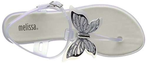 Melissa Solar Butterfly - Zapatos Mujer Transparent (Glass)
