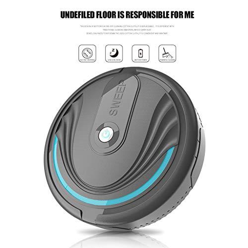 LLJEkieee Full Automatic Mini Vacuuming Robot Smart electrostatic Cleaning,Automatic sensingHousehold Appliances Charging Sweeper (Black)