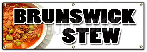 """UPC 718088509406, 72"""" BRUNSWICK STEW BANNER SIGN hearty southern style homemade slow cooked"""