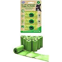 Biodegradable Dog Poo Bags Disposable Pet Waste Garbage Bag 120 Bags Free Dispenser