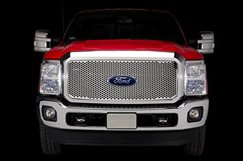 - Putco Stainless Steel Punch Grille Insert for 2011-15 Ford F250/F350 Super Duty