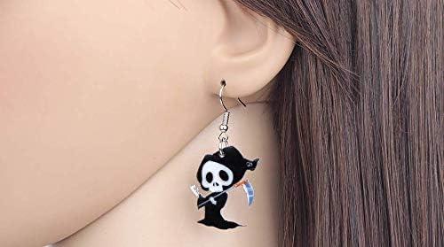 dark baphomet seal Cuthulhu Cat Skull inverted staff Earrings Halloween Ghost earrings goth horror satanic star