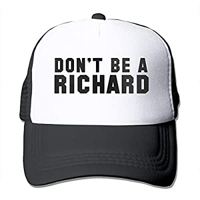 Waldeall Don't BE A Richard Funny Gag Joke Party Mesh Adjustable Vintage Truckers Cap