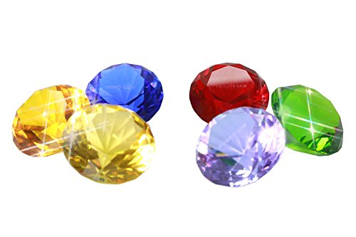 (xcoser Infinity Gems 4cm Crystal Diamond Lord Glowing Orb Shaped Infinity Six Stones Cosplay Props Ornament)