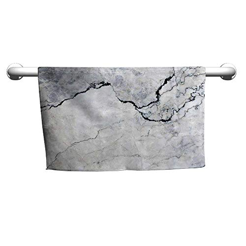 (warmfamily Apartment Decor Beach and Pool House TowelMarble Textured Smooth Details Cracked Dimension Stone Smooth Elegance ImageW12 x L35)