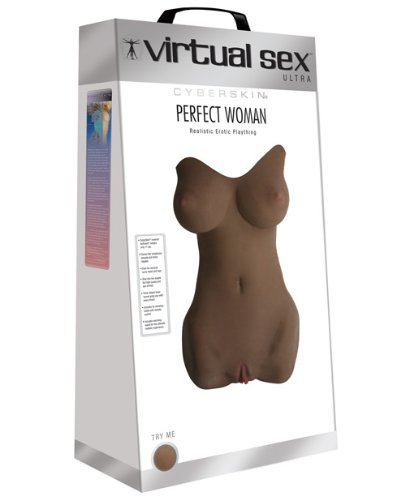 CyberSkin Virtual Sex Ultra Perfect Woman Realistic Erotic Plaything, Dark, Best Real Dolls