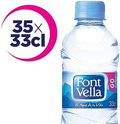 Font Vella - Agua Mineral Natural - Caja 35 x 33Cl: Amazon.es ...